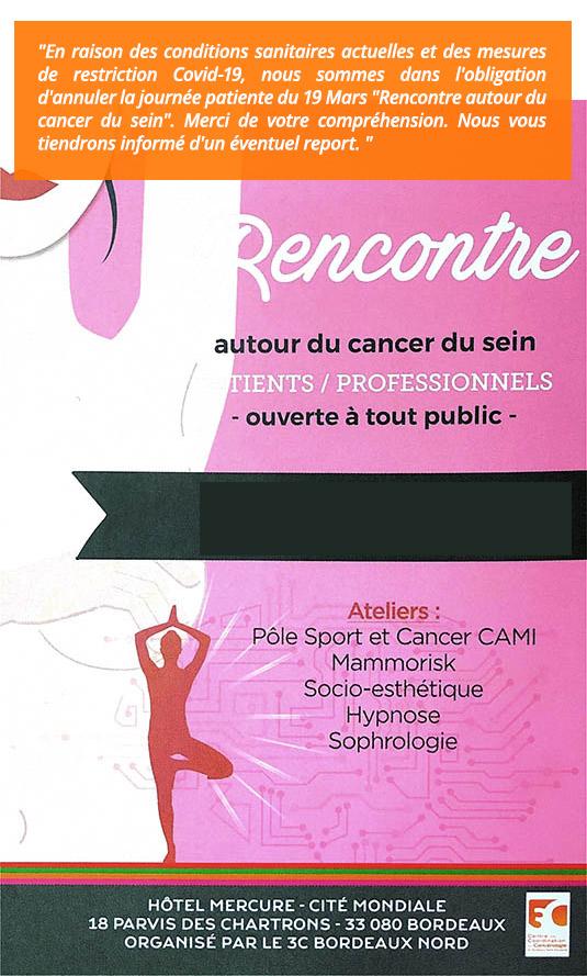 Événement annulé : Rencontre autour du cancer du sein