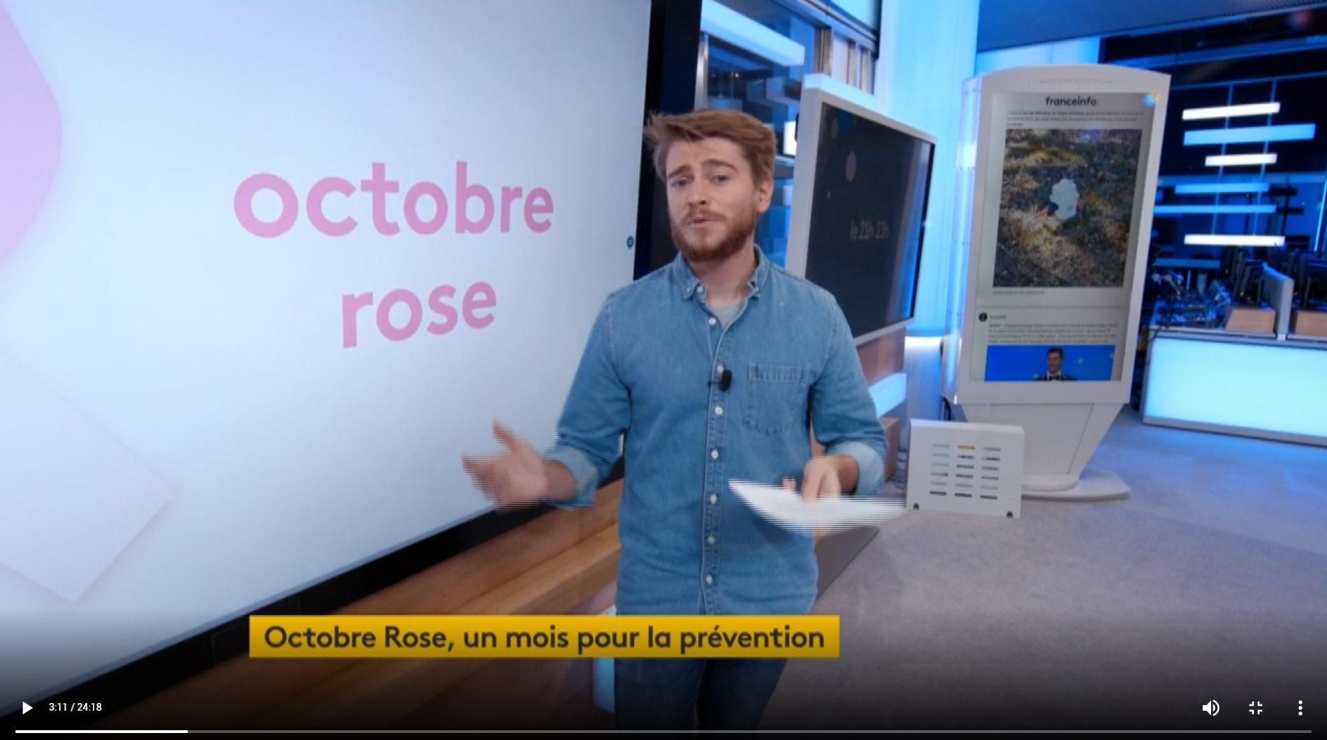 Octobre Rose, 1 mois pour la prévention – France Info TV